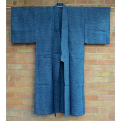 Vintage Men's Yukata Blue and White Stripe