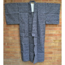 Vintage Men's Yukata - Dark Indigio Blue