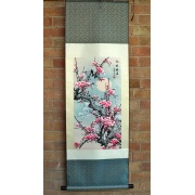 Chinese Silk Scroll - Plum Blossom in Snow
